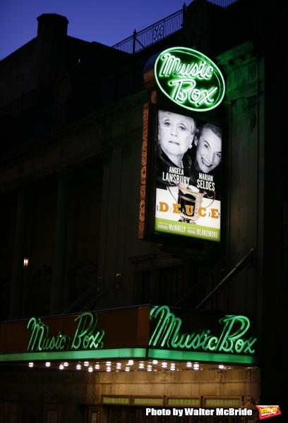The Opening Night Performance Theatre Marquee for DEUCE starring Angela Lansbury & Marian Seldes at the Music Box Theatre in New York City..May 6, 2007