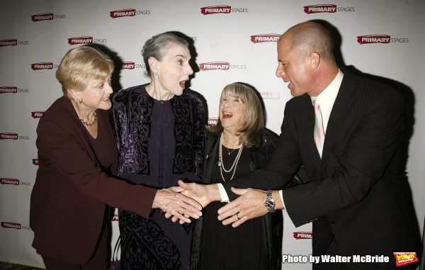 Angela Lansbury, Marian Seldes, Julie Harris with Maxwell Caufield attending the Prim Photo