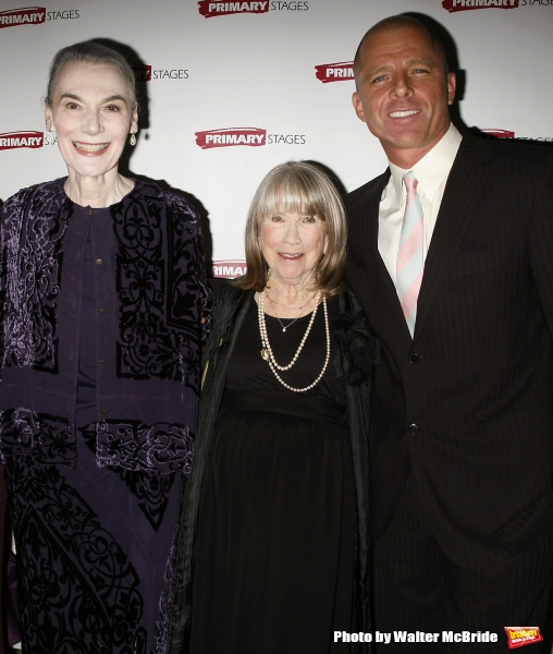 Marian Seldes, Julie Harris with Maxwell Caufield attending the Primary Stages 22nd A Photo