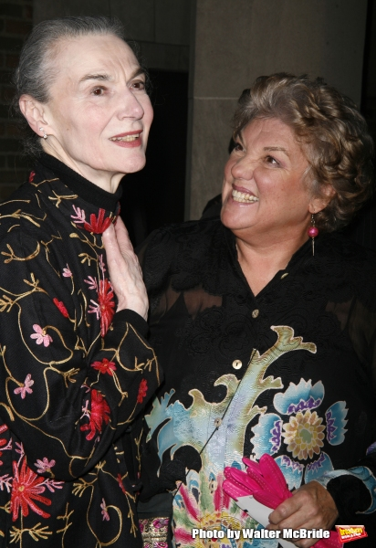 Marian Seldes & Tyne Daly attending the Opening Night performance for the New Broadway Musical CURTAINS at the Hirschfeld Theatre in New York City. March 22, 2007