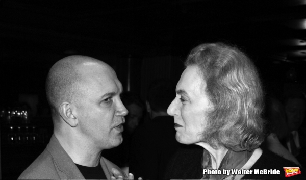 CHARLES BUSCH and MARIAN SELDES Attending the Lucille Lortel Nominees Cocktail Party at Ruth''s Chris Steak House, New York City. April 21, 2003
