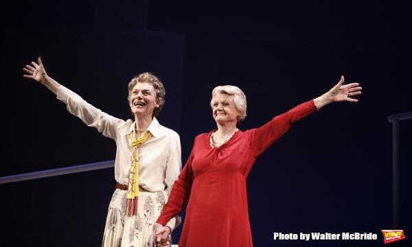 Marian Seldes & Angela Lansbury on stage for The Opening Night Performance Curtain Call for DEUCE at the Music Box Theatre in New York City. May 6, 2007