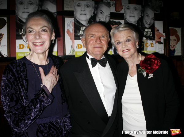 Marian Seldes & Terrence McNally (Playwright) & Angela Lansbury attending for the Opening Night Performance After Party at  Sardi''s Restaurant  in New York City. May 6, 2007