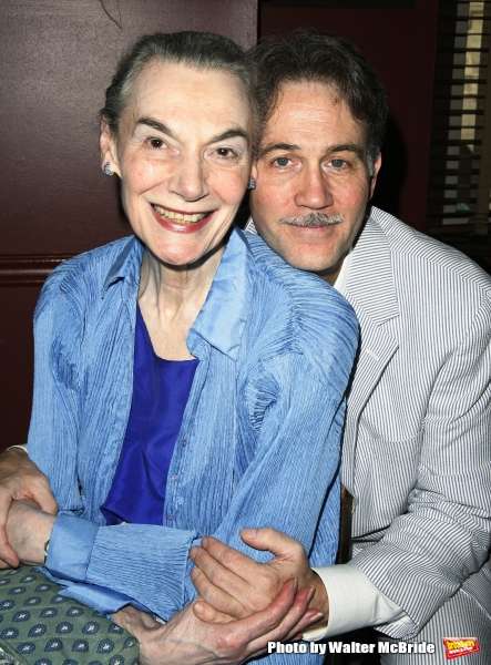 Marian Seldes & Boyd Gaines celebrate as Boyd Gaines joins the famed walls of Sardi''s Restaurant when his portrait is unveiled. july 31, 2008