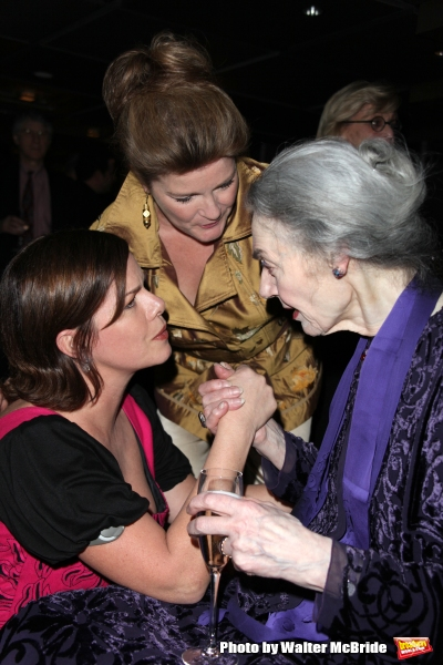 Marcia Gay Harden, Marian Seldes and Kate Mulgrew attending the Vineyard Theatre Gala Honoring Actress Marian Seldes at the Rainbow Room in New York City. February 9, 2009 © Walter McBride / Retna Ltd.