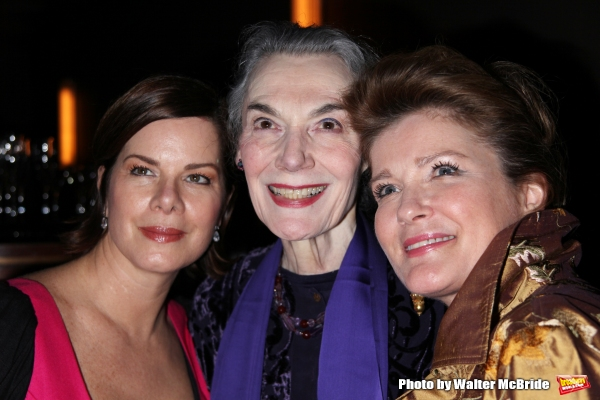Marcia Gay Harden, Marian Seldes and Kate Mulgrew attending the Vineyard Theatre Gala Honoring Actress Marian Seldes at the Rainbow Room in New York City. February 9, 2009
