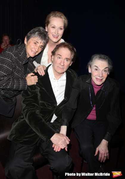 Margot Harley, Meryl Streep, Kevin Kline & Marian Seldes attend The Lover and the Poet - An Evening of Shakespeare at the Florence Gould Hall, New York City. The Evenings proceeds benefit The Acting Company.  November 2, 2009