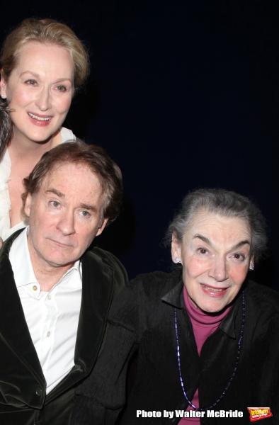 Meryl Streep, Kevin Kline & Marian Seldes Photo