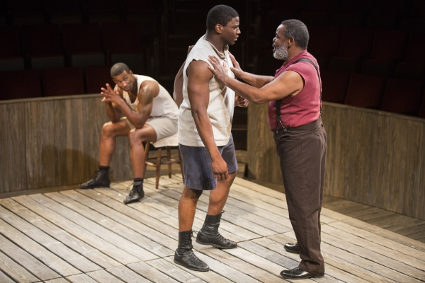 Robert Christopher Riley as Jay, Okieriete Onaodowan as Fish, and Ray Anthony Thomas as Wynton