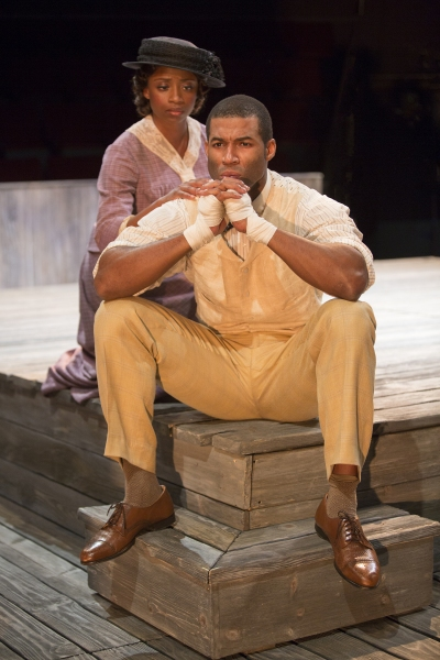 Montego Glover as Nina and Robert Christopher Riley as Jay