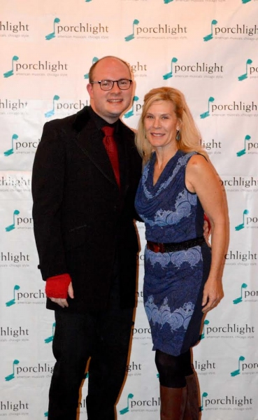 Music Director Doug Peck and Porchlight Music Theatre Advisory Board Member Hollis Resnik