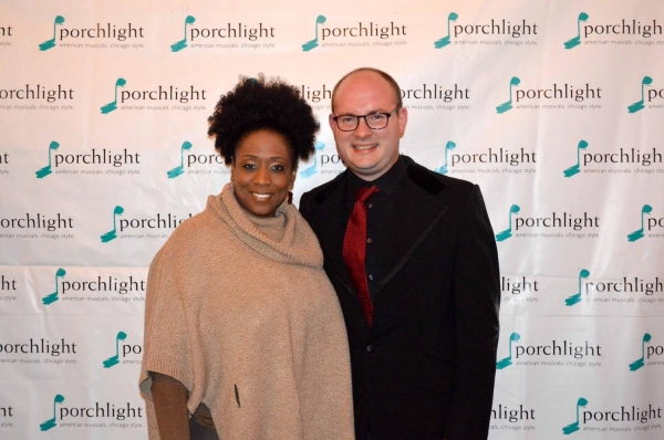 Porchlight Music Theatre Advisory Board Member E. Faye Butler and Porchlight Artistic Associate and Music Director Doug Peck