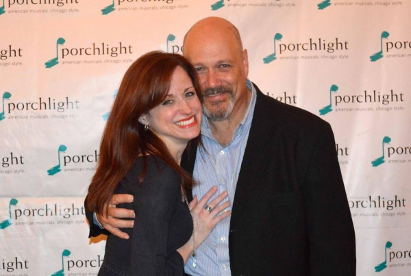 Heidi Kettenring and Porchlight Music Theatre Artistic Associate and Sweeney Todd, David Girolmo