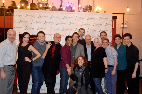 """Some members of the SWEENEY TODD cast, including (left to right): Artistic Director and Director of â€Å""""Sweeney Toddâ€Â� Michael Weber, â€Å""""Sweeney Toddâ€Â� Dance and Music Staging Dina DiCostanzo, Javier Ferreira, â€Å""""Sweeney Toddâ€Â� M"""