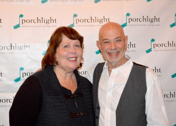 Porchlight Music Theatre Artistic Associate Beckie Menzie and Irwin Berkowitz