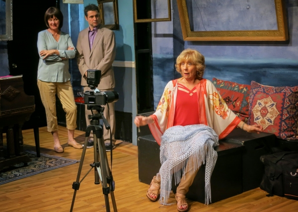 Catherine Butterfield (Mindy), Adam Ferrara (Frank) and Peggy J. Scott (Dorothy) Photo