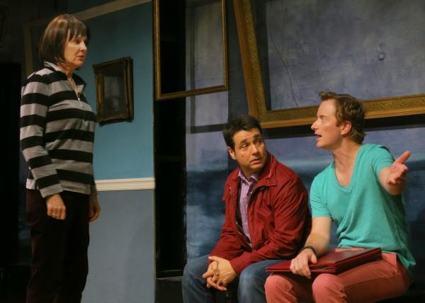 Catherine Butterfield (Mindy), Adam Ferrara (Frank) and Jeffrey C. Hawkins (Jed) Photo
