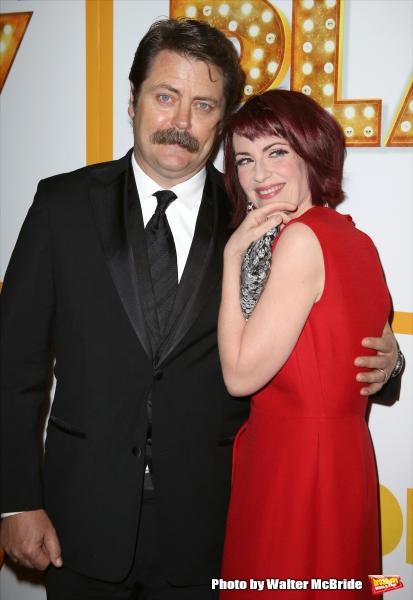 Nick Offerman and Megan Mullally  Photo