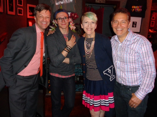 Jim Caruso, Luke McCollum, Lisa Lampanelli and Michael Feinstein