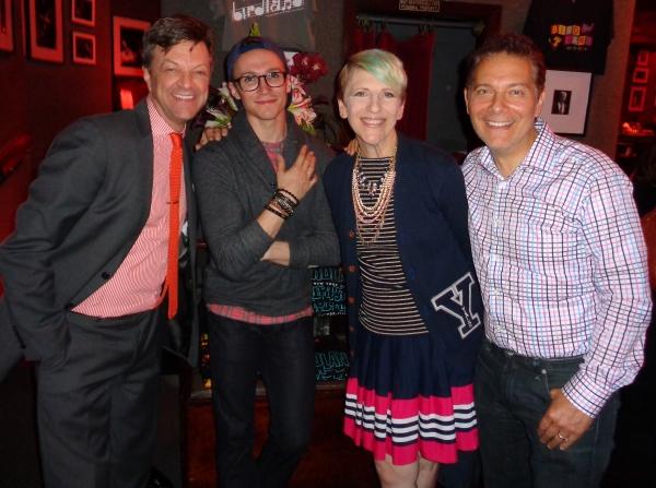 Jim Caruso, Luke McCollum, Lisa Lampanelli and Michael Feinstein Photo