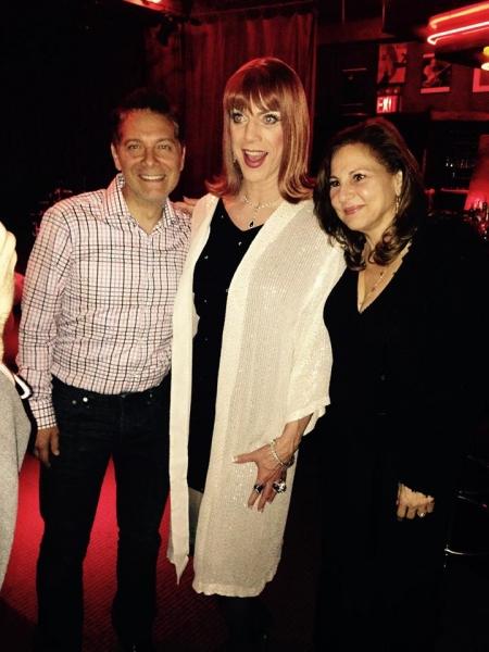 Michael Feintsein, Miss Coco Peru and Kathy Najimy Photo