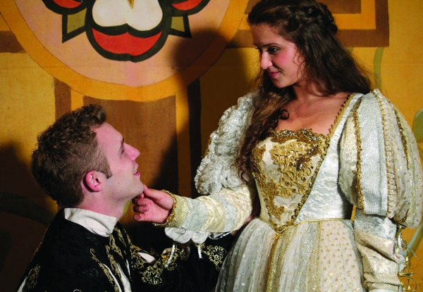 Casey Leach (Romeo) and Laura Plyler (Juliet)
