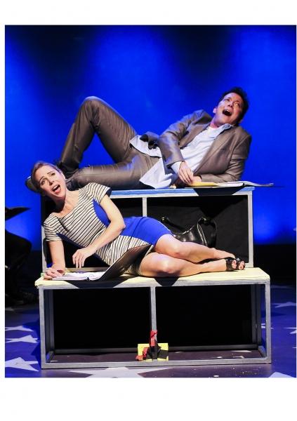 Kerry Butler as Susan and John Tartaglia as Josh