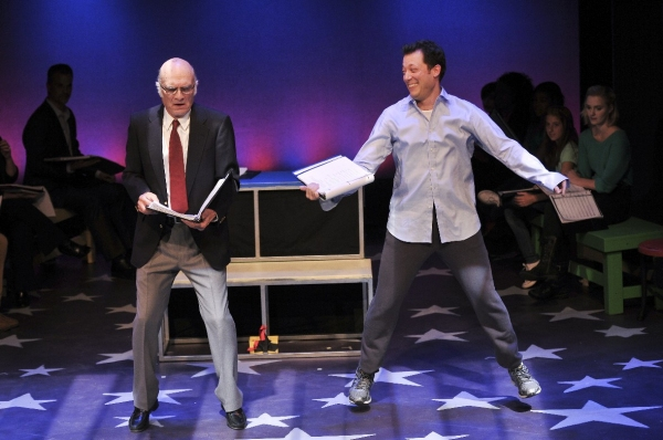 Dancing on the keyboard: Walter Charles as MacMillan and John Tartaglia as Josh