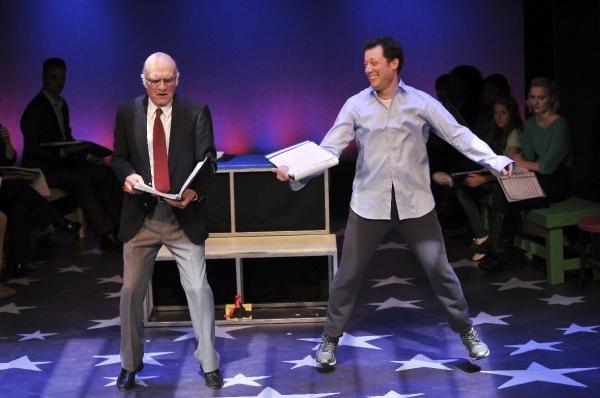 Dancing on the keyboard: Walter Charles as MacMillan and John Tartaglia as Josh