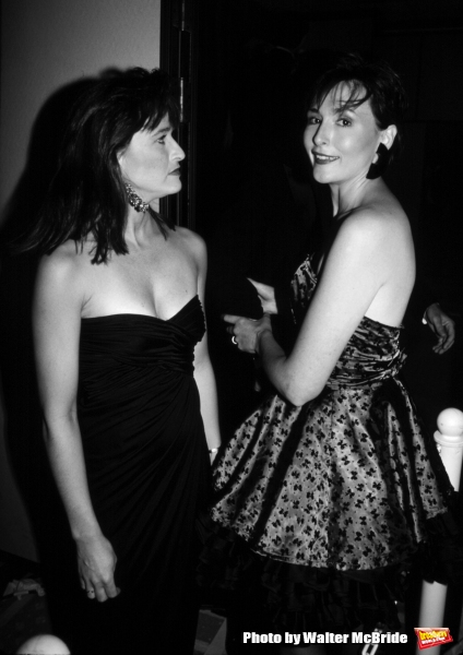 Jan Hooks and Nora Dunn (Saturday Night Live) on August 1, 1988 in New York City.