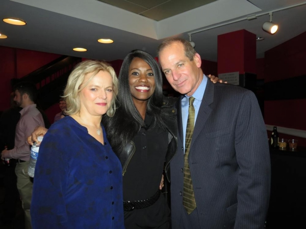Ellen McLaughlin (left) and John Bolger (right) are reunited with Zakiya Young, their costar in the 2013 George Street Playhouse production of David Lindsay-Abaire''s ''Good People.''