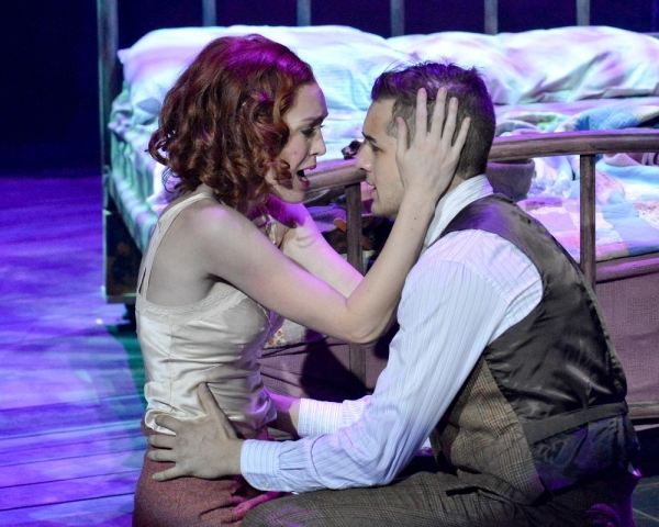 John Campione as Clyde and Kayla Carlyle as Bonnie Photo