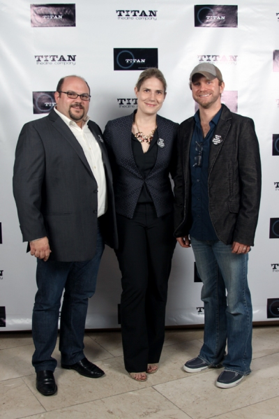 Lenny Banovez - Director/TITAN Artistic Director, Taryn Sacramone - Managing Director Queens Theatre & Kevin Beebee - Producer/TITAN Managing Director