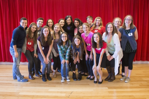 Lindsay Mendez, Marc Tumminelli and Broadway Workshop Students