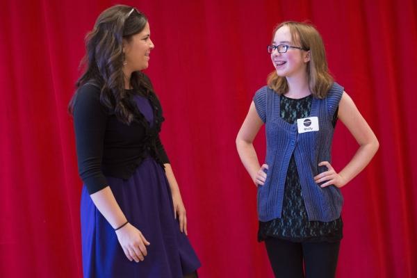 Lindsay Mendez with Broadway Workshop Student