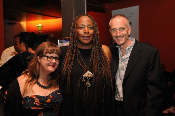 CTG Literary Manager Joy Meads, writer/performer Dael Orlandersmith and CTG Associate Artistic Director Neel Keller