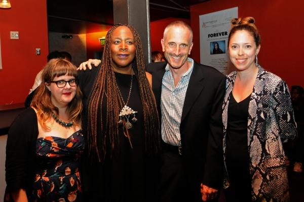CTG Literary Manager Joy Meads, writer/performer Dael Orlandersmith, CTG Associate Artistic Director Neel Keller and CTG Associate Producer Lindsay Allbaugh