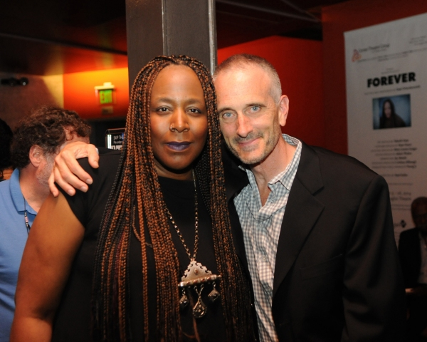 Writer/performer Dael Orlandersmith and CTG Associate Artistic Director Neel Keller
