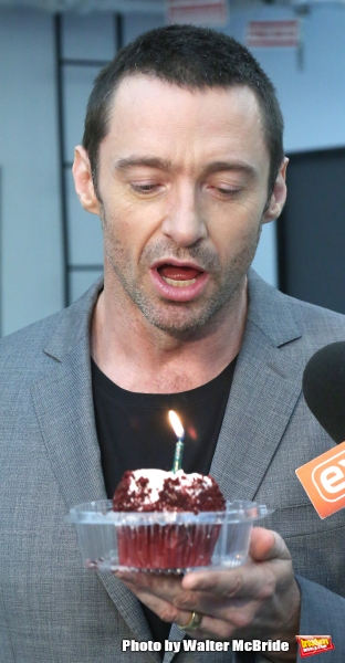 Hugh Jackman attends the meet & greet for ''The River''  at their rehearsal studio on October 14, 2014 in New York City.