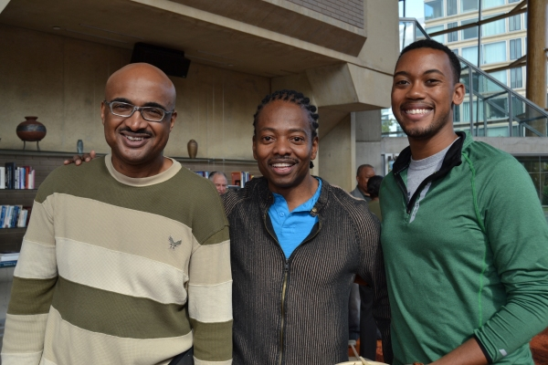 Music director Darryl Ivey, choreographer Byron Easley and assistant choreographer Ta Photo
