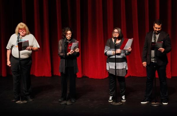 Bruce Vilanch, Lily Tomlin, Mindy Cohn, Joey Fatone