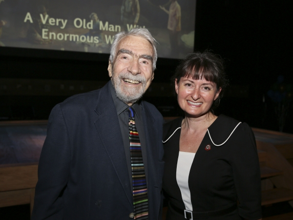 CTG Founding Artistic Director Gordon Davidson and Culver City Mayor Meghan Sahli-Wells