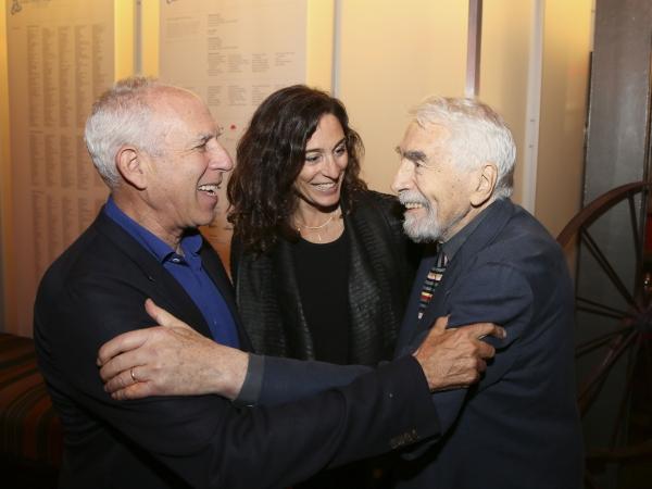 Architect Steven Ehrlich, Rachel Davidson and CTG Founding Artistic Director Gordon Davidson