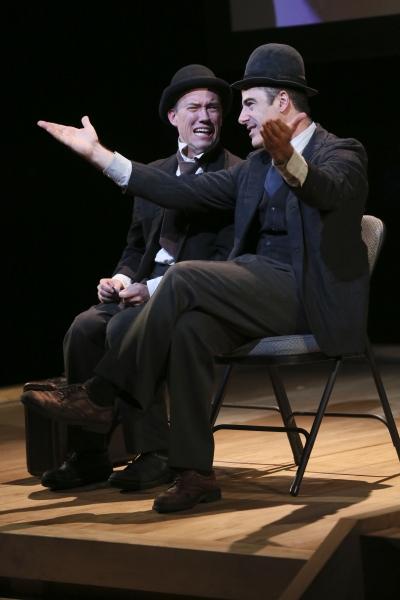 Actors Trey Lyford and Geoff Sobelle