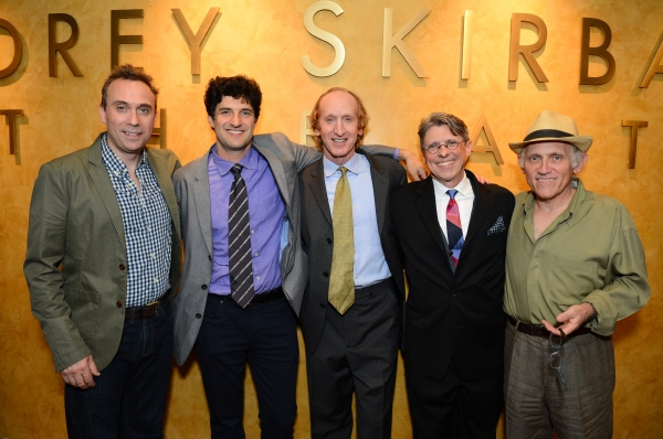 David Melville (Charles Dickens), Matt August (Director), Larry Cedar (Thomas Jefferson), Scott Carter (Playwright) and Armin Shimerman (Leo Tolstoy)