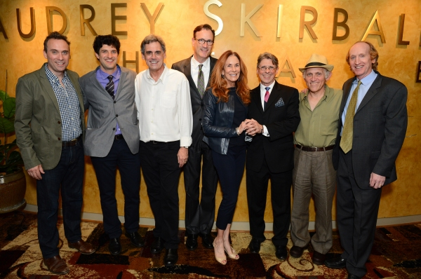 David Melville (Charles Dickens), Matt August (Director), Randall Arney (Geffen Playhouse Artistic Director), Ken Novice (Geffen Playhouse Managing Director), Pamela Robinson Hollander (Geffen Playhouse Board of Directors Co-Chair), Scott Carter (Playwrig