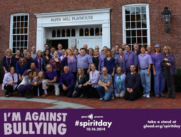 Paper Mill Playhouse staff, crew, orchestra and the cast of Can-Can participate in Spirit Day 2014! #spiritday