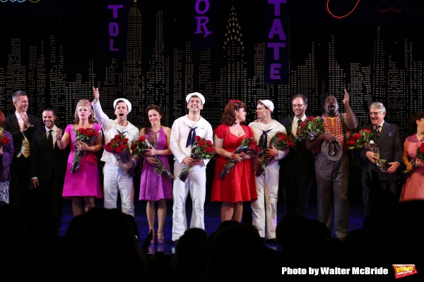Elizabeth Stanley, Clyde Alves, Megan Fairchild, Tony Yazbeck, Alysha Umphress, Jay Armstrong Johnson, John Rando, Phillip Boykin, Michael Rupert with the cast