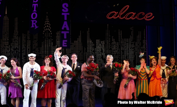 Clyde Alves, Megan Fairchild, Tony Yazbeck, Alysha Umphress, Jay Armstrong Johnson, John Rando, Phillip Boykin, Michael Rupert and Allison Guinn with cast