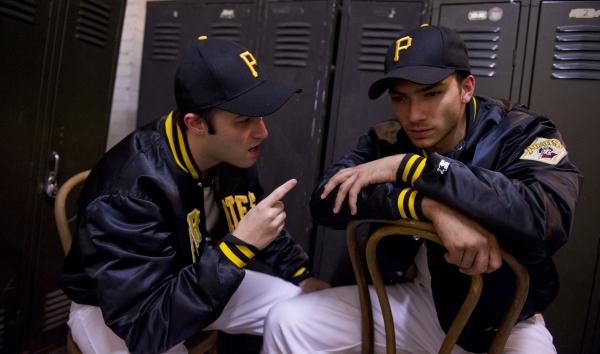 Keaton Jadwin as Murtaugh and Jeffrey Gorti as Roberto Clemente Photo